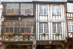timbered house in Dinan